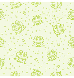 Frog seamless background vector