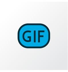 Gif sticker icon colored line symbol premium vector