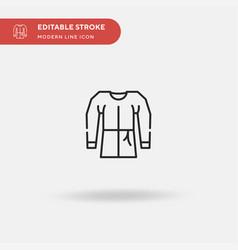 Gown simple icon symbol vector