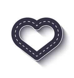 Heart shape road icon infographic template eps 10 vector