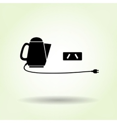 Home electric kettle with two-pin plug Australian vector