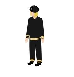 Isometric fireman icon vector image