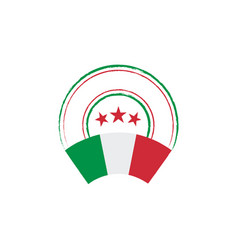 Italian flag retro stamp vector