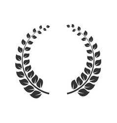 laurel wreath icon round leaf decoration vector image