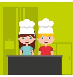 Little chef kids menu vector