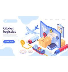 logistics company concept vector image