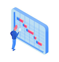 Manager planning deadlines isometric vector