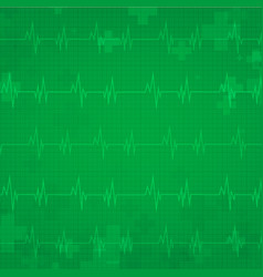medical background with heart monitor vector image