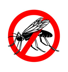 Mosquito danger sign template design element for vector
