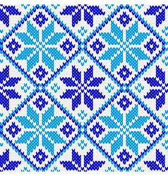 Nordic ornament knitting seamless texture vector image