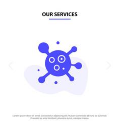 our services atom molecule science solid glyph vector image