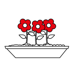 potted flowers icon image vector image