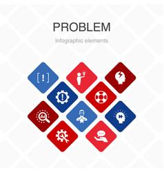 Problem infographic 10 option color design vector