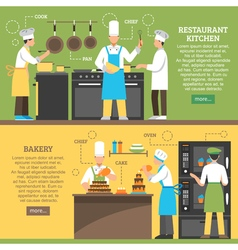 Professional Cooking Horizontal Banners vector