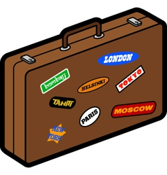 Retro suitcase vector image