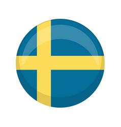 Retro sweden retro campaign button vector