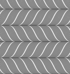 Ribbons gray horizontal chevron pattern vector image