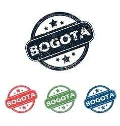 Round Bogota city stamp set vector