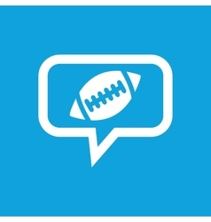 Rugby message icon vector image