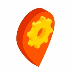 Service map marker isometric 3d icon vector image