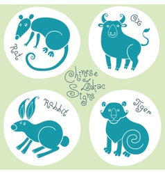 Set signs of the Chinese zodiac vector image