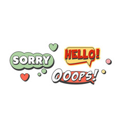speech bubbles with text set flat shapes vector image