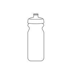 sport bottle outline fitness equipment vector image