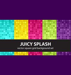 square pattern set juicy splash seamless tile vector image