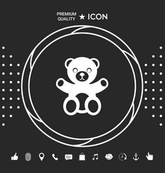 Teddy bear icon graphic elements for your vector