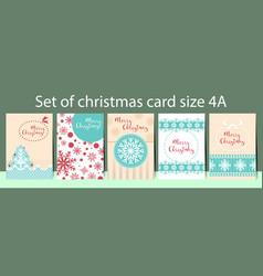 template christmas size a4 vector image