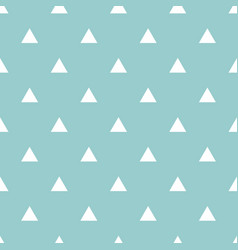 Tile pattern with white triangles on mint green vector