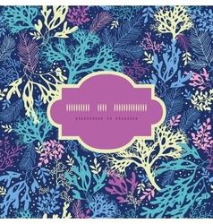Underwater seaweed frame seamless pattern vector