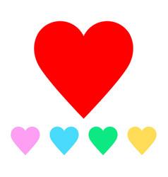 valentine heart symbols vector image