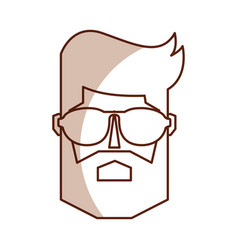 Vintage man face cartoon vector