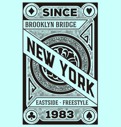 Vintage new york brooklyn design vector