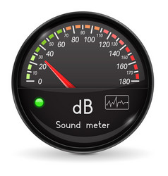 Volume unit meter sound audio equipment low vector