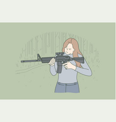 war training hunting concept vector image