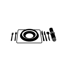 Wedding utensils simple icon vector image