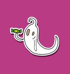 White ghost phantom silhouette isolated vector