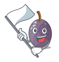 With flag velvet tamarind fruit isolated on mascot vector