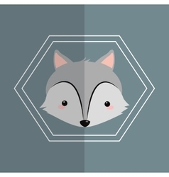 Wolf over background image vector