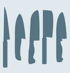 a set of knives vector image