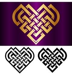 celtic heart vector image