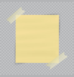 paper sheet on translucent sticky tape with vector image vector image