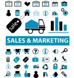 sales marketing signs vector image vector image