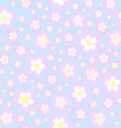 Texture of sakura cherry blossoms vector image