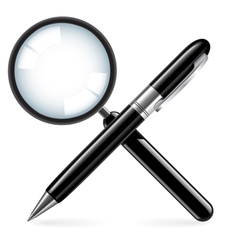 Zoom and pen vector image
