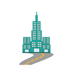 building modern structure road vector image