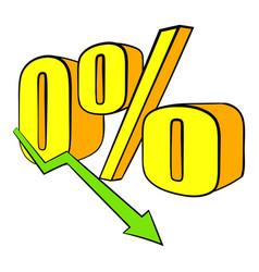decline in revenue icon cartoon vector image vector image