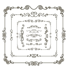 Doodle frame borders vector image